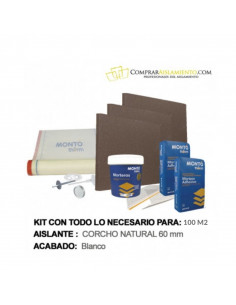 kit sistema sate panel aislamiento corcho natural 60mm 100m